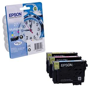 3 EPSON 27 / T2705 cyan, magenta, gelb Tintenpatronen