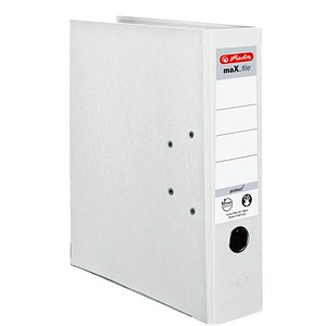 herlitz maX.file protect Ordner weiß Kunststoff 8,0 cm DIN A4