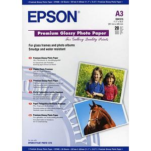 EPSON Fotopapier C13S041315 DIN A3 glänzend 255 g/qm 20 Blatt