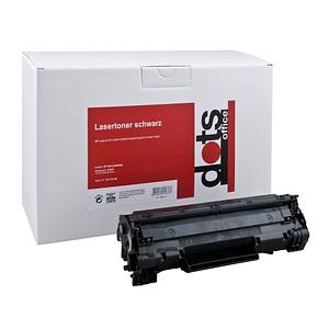 dots schwarz Toner ersetzt HP 36A (CB436A)