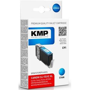KMP C91 cyan Tintenpatrone ersetzt Canon CLI-551 XL C