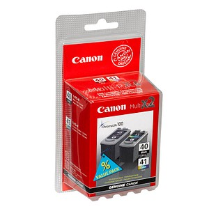 2 Canon PG-40 + CL-41 schwarz, color Druckköpfe