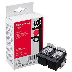 dots schwarz, color Tintenpatronen ersetzen Canon PG-540/CL-541