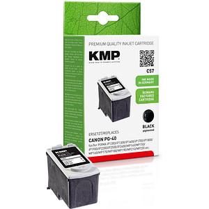 KMP C57 schwarz Tintenpatrone ersetzt Canon PG-40