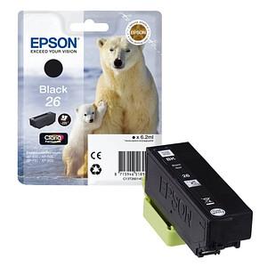 EPSON 26 / T2601 schwarz Tintenpatrone