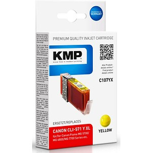 KMP C107YX gelb Tintenpatrone ersetzt Canon CLI-571 XL Y