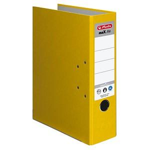 herlitz maX.file nature plus Ordner gelb Karton 8,0 cm DIN A4