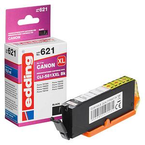 edding EDD-621 schwarz Tintenpatrone ersetzt Canon CLI-581XXL BK