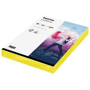 tecno Kopierpapier colors gelb DIN A4 80 g/qm 100 Blatt