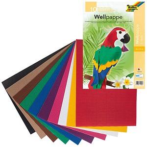 folia Bastelwellpappe E-Welle farbsortiert 1 Pack