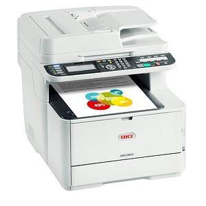 OKI MC363dn 4 in 1 Farblaser-Multifunktionsdrucker grau