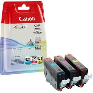 3 Canon CLI-521 C/M/Y cyan, magenta, gelb Tintenpatronen