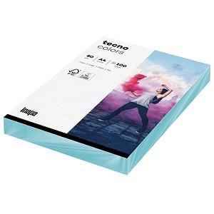 tecno Kopierpapier colors mittelblau DIN A4 80 g/qm 100 Blatt