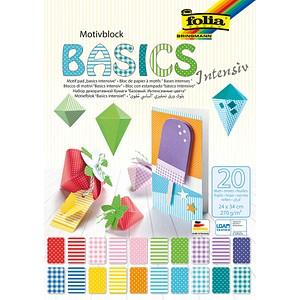 folia Motivblock BASICS INTENSIV farbsortiert 24,0 x 34,0 cm 270 g/qm