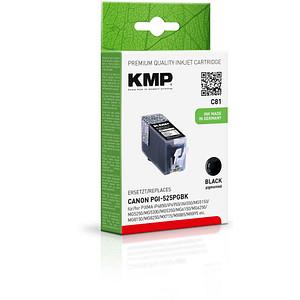 KMP C81 schwarz Tintenpatrone ersetzt Canon PGI-525 BK