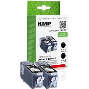 2 KMP C81D schwarz Tintenpatronen ersetzen Canon PGI-525 BK Twinpack