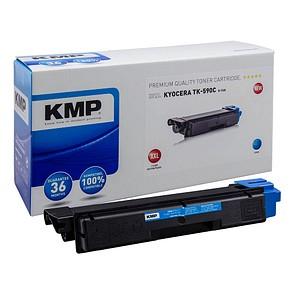 KMP K-T68 cyan Toner ersetzt Kyocera TK-590C XXL