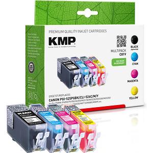 4 KMP C81V schwarz, cyan, magenta, gelb Tintenpatronen ersetzen Canon PGI-525 BK, CLI-526 C/M/Y