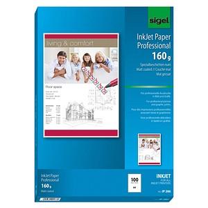 SIGEL Fotopapier IP286 DIN A4 matt 160 g/qm 100 Blatt