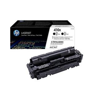 2 HP 410X (CF410XD) schwarz Tonerkartuschen