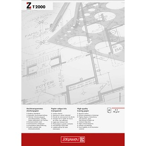 BRUNNEN Transparentpapier   DIN A3   70 g/qm 25 Blatt