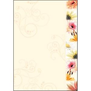 SIGEL Motivpapier Flowerstyle Motiv DIN A4 90 g/qm 50 Blatt