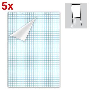 Flipchart-Papier kariert 67,5 x 98,0 cm, 20 Blatt, 5 Blöcke
