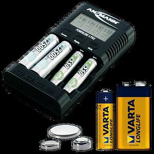Batterien, Ladegeräte