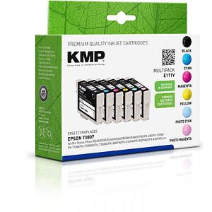 6 KMP E111V schwarz, cyan, magenta, gelb, light cyan, light magenta Tintenpatronen ersetzen EPSON T0807