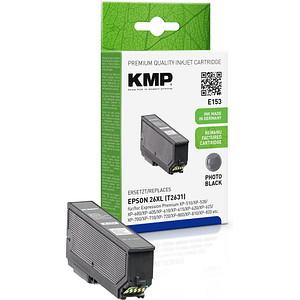 KMP E153 Foto schwarz Tintenpatrone ersetzt EPSON 26XL / T2631XL