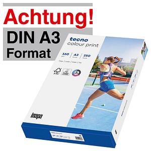 tecno Laserpapier colour print DIN A3 160 g/qm 250 Blatt