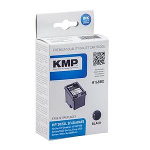 KMP H168BX schwarz Tintenpatrone ersetzt HP 302XL (F6U68AE)