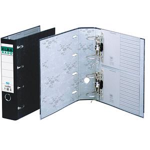 ELBA Wolkenmarmor-Papier Doppelordner schwarz Karton 7,5 cm