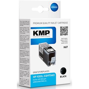 KMP H67 schwarz Tintenpatrone ersetzt HP 920XL (CD975AE)
