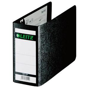 LEITZ 1078 Ordner schwarz marmoriert Karton 8,0 cm DIN A6 quer