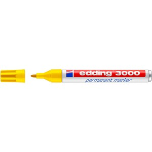 edding 3000 Permanentmarker gelb 1,5 - 3,0 mm