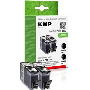 2 KMP C66D schwarz Tintenpatronen ersetzen Canon PGI-5 BK Twinpack