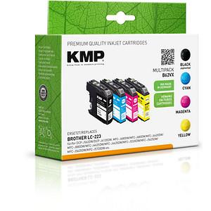 4 KMP B62VX schwarz, cyan, magenta, gelb Tintenpatronen ersetzen brother LC-223BK/C/M/Y