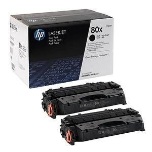 2 HP 80X (CF280XD) schwarz Tonerkartuschen