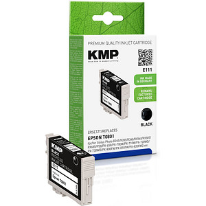 KMP E111 schwarz Tintenpatrone ersetzt EPSON T0801