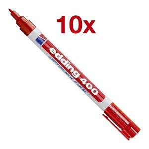 10 edding 400 Permanentmarker rot 1,0 mm