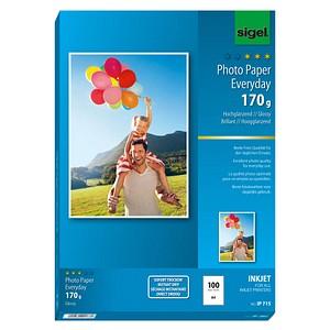 SIGEL Fotopapier IP715 DIN A4 hochglänzend 170 g/qm 100 Blatt