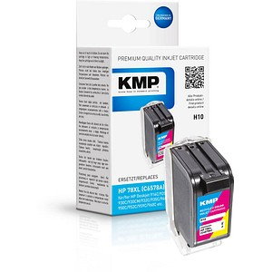 KMP H10 color Tintenpatrone ersetzt HP 78 (C6578A)