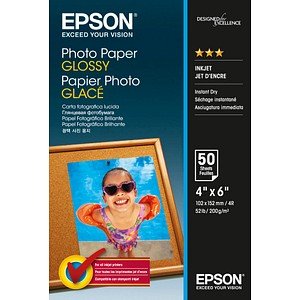 EPSON Fotopapier S042547 10,0 x 15,0 glänzend 200 g/qm 50 Blatt