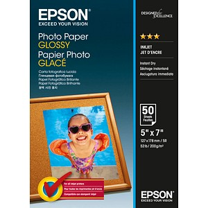 EPSON Fotopapier S042545 13,0 x 18,0 glänzend 200 g/qm 50 Blatt