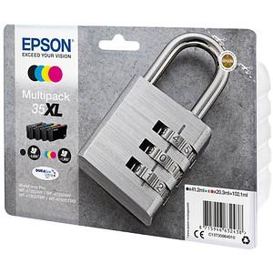 4 EPSON 35XL / T3596XL schwarz, cyan, magenta, gelb Tintenpatronen