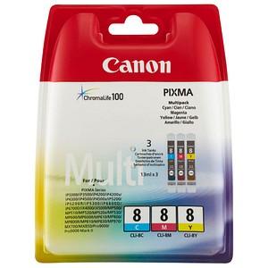 3 Canon CLI-8 C/M/Y cyan, magenta, gelb Tintenpatronen