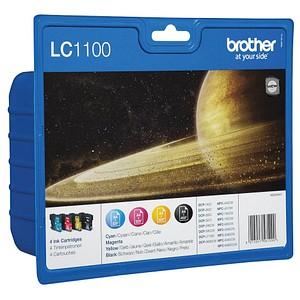 4 brother LC-1100BK/C/M/Y schwarz, cyan, magenta, gelb Tintenpatrone