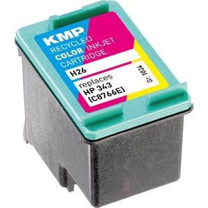 KMP H26 color Tintenpatrone ersetzt HP 343 (C8766E)