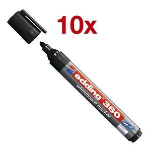10 edding 360 Whiteboard-Marker schwarz 1,5 - 3,0 mm
